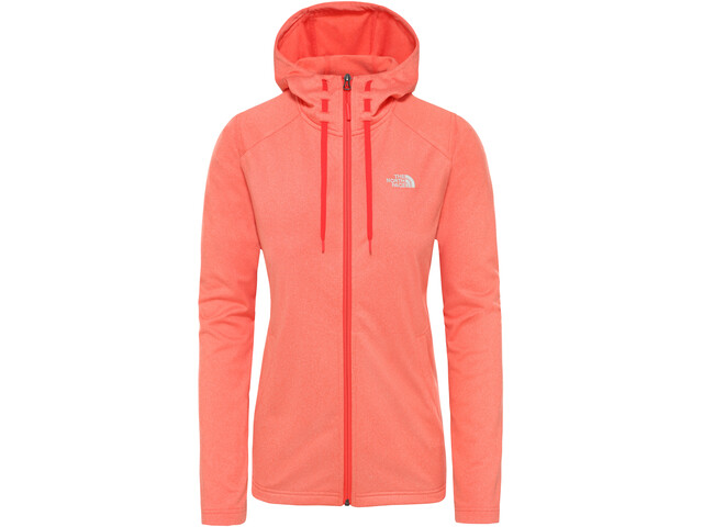The North Face Tech Mezzaluna Capuchon Jas Dames, radiant orange white heather